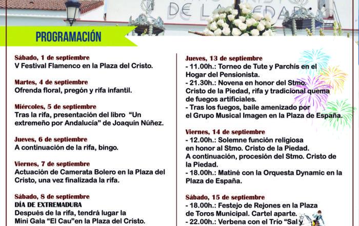 Programa Fiestas del Cristo 2018